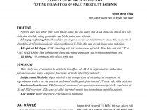 Bài nghiên cứu: Tác dụng của HXH trên  một số chỉ tiêu xét nghiệm của nam giới vô sinh